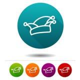 Icône de Karneval Symbole de Rosenmontag de zum de Narrenkappe Bouton de Web Photographie stock libre de droits
