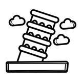 Icône de l'Italie de tour de Piza illustration stock
