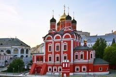 Icône de la mère de l'église de Dieu à Moscou Images stock