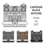 Icône de la Reine Victoria Building dans le style de bande dessinée d'isolement sur le fond blanc Illustration de vecteur d'actio Photos libres de droits
