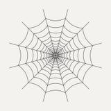 Icône de la toile d'araignée dans le style linéaire d'isolement sur le fond blanc Élément graphique pour votre conception Illustr images libres de droits