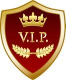 Icône de label de bouclier d'or de VIP illustration libre de droits