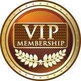 Icône de label de bouclier d'or de VIP illustration de vecteur
