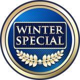 Icône de label d'or d'offre de remise spéciale d'hiver illustration de vecteur