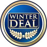 Icône de label d'or d'offre spéciale d'affaire d'hiver illustration de vecteur