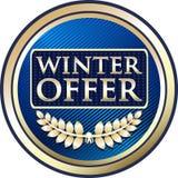 Icône de label d'or de remise spéciale d'offre d'hiver illustration stock