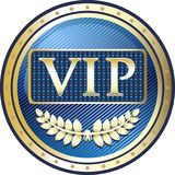 Icône de label d'or de VIP Photographie stock