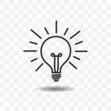 Icône de lampe d'ampoule Photos stock