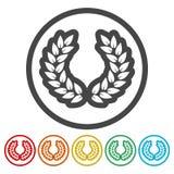 Icône de laurier, schwarz de Lorbeerkranz, guirlande de laurier illustration stock