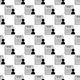 icône de lecteur de journal dans le style de modèle illustration de vecteur