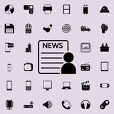 icône de lecteur de journal Ensemble détaillé d'icônes minimalistic Conception graphique de la meilleure qualité Une des icônes d illustration libre de droits