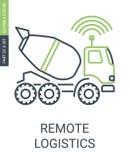 Icône de logistique de Smart Remote avec la course Editable illustration de vecteur