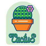 Icône de logo de cactus images stock