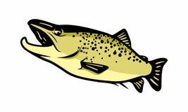 Icône de logo de conception de mer de poissons unique Image stock