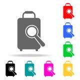 icône de loupe et de bagage Éléments des icônes colorées multi d'aéroport Icône de la meilleure qualité de conception graphique d illustration de vecteur