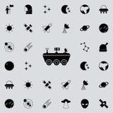 icône de Lune-Rover Espacez l'ensemble universel d'icônes pour le Web et le mobile illustration stock