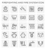Icône de lutte contre l'incendie de système illustration libre de droits