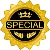 Icône de luxe d'emblème d'insigne d'or spécial illustration stock