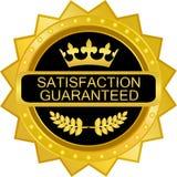 Icône de luxe d'insigne d'or garantie par satisfaction illustration stock