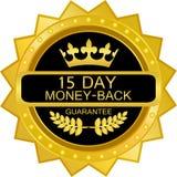 Icône de luxe de label d'or de dos d'argent de quinze jours illustration de vecteur