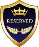 Icône de luxe réservée d'emblème d'or illustration libre de droits