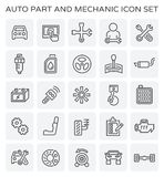 Icône de mécanicien automobile illustration stock