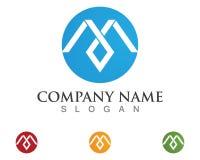 Icône de M Letter Logo Template Vector Photographie stock