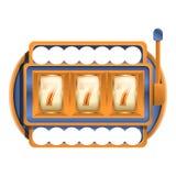 Icône de machine à sous de casino, style de bande dessinée illustration de vecteur