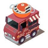 Icône de machine de BBQ, style isométrique illustration stock