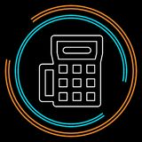 Icône de machine de carte de crédit - terminal de paiement illustration libre de droits