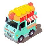 Icône de machine de hot-dog, style isométrique Images stock