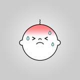 Icône de malade de bébé illustration de vecteur
