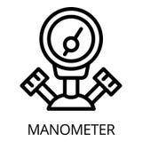 Icône de manomètre de soudeuse de gaz, style d'ensemble illustration stock