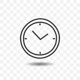 Icône de minuterie d'horloge Photos stock