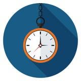Icône de montre de poche dans la conception plate Photo libre de droits