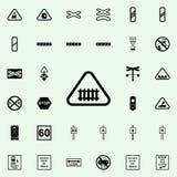 icône de niveau équipée Ensemble universel d'icônes ferroviaires d'avertissements pour le Web et le mobile illustration de vecteur