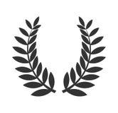 Icône de noir de guirlande de laurier illustration libre de droits
