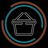 Icône de panier à provisions - bouton commercial de magasin illustration libre de droits