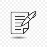 Icône de papier et de stylo Photos libres de droits
