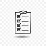 Icône de papier de liste Image libre de droits