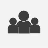 Icône de personnes Groupe de signe d'humains Symbole de travail d'équipe Images libres de droits