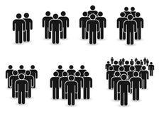 Icône de personnes réglée dans le style plat à la mode Conception de site Web d'infographics de symbole de personnes, logo, APP,  illustration stock