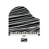 Icône de piano à queue avec la ligne blanche illustration stock