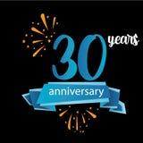 icône de pictogramme de 30 anniversaires, années d'anniversaire de label de logo Illustration de vecteur D'isolement sur le fond  illustration libre de droits