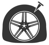 Icône de piqûre de pneu illustration libre de droits