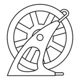 Icône de piscine de roue de tuyau, style d'ensemble illustration stock