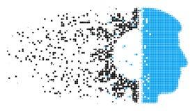 Icône de pixel dispersée par tête d'Android illustration de vecteur