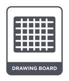 icône de planche à dessin dans le style à la mode de conception icône de planche à dessin d'isolement sur le fond blanc icône de  illustration de vecteur