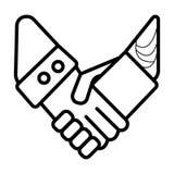 Icône de poignée de main d'icône illustration de vecteur