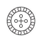 Icône de point de connexion avec le concept de blockchain Future technologie illustration stock